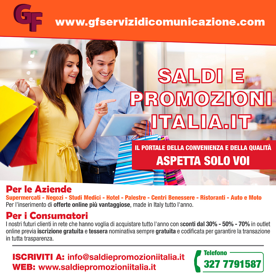post facebook saldi e promozioni - fronte 940px X 940px -web